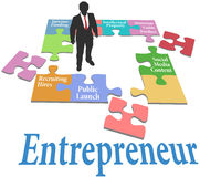 Modelo comercial da partida do achado do empresário Imagem de Stock Royalty Free