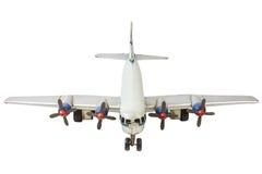 Modelo comercial genérico velho do avião isolado no branco fotografia de stock