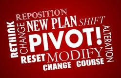 Modelo comercial Words del curso del cambio del pivote nuevo stock de ilustración