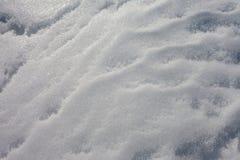 Modelo completo superficial de la textura del fondo del marco de la nieve Foto de archivo