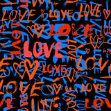 Modelo con amor pintado a mano de las palabras ilustración del vector