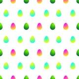 Modelo con collours de los huevos de Pascua diversos ilustración del vector