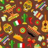 Modelo con cualidades mexicanas tradicionales ilustración del vector