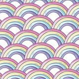 Modelo con el arco iris ilustración del vector