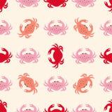 Modelo con el cangrejo en rosa libre illustration