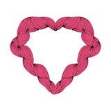modelo con el corazón coloreado Vector stock de ilustración