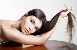 Modelo con el pelo largo Fotografía de archivo