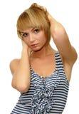 Modelo con el pelo rubio corto Imágenes de archivo libres de regalías