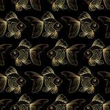 Modelo con el pez de colores Fotografía de archivo