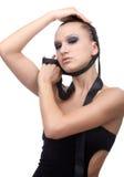 Modelo con la cinta de paño Foto de archivo