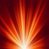 Modelo con la luz caliente del color de la explosión. EPS 8 Foto de archivo libre de regalías