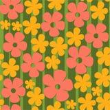Modelo con las flores coloridas Foto de archivo libre de regalías