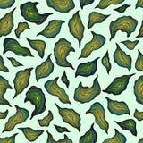 Modelo con las hojas amarillas de color caqui azules de la cal verde Fotos de archivo libres de regalías