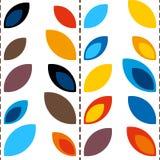 Modelo con las hojas Fondo inconsútil del embaldosado Arte colorido del vector floral stock de ilustración