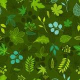 Modelo con las hojas verdes estilizadas Fotografía de archivo