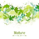 Modelo con las hojas verdes estilizadas Fotografía de archivo libre de regalías