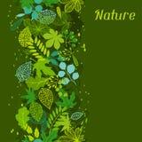 Modelo con las hojas verdes estilizadas Foto de archivo