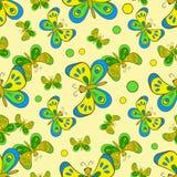 Modelo con las mariposas coloridas Imagen de archivo libre de regalías