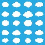Modelo con las nubes imagen de archivo libre de regalías