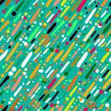 Modelo con las rayas coloridas dibujadas mano ilustración del vector