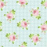Modelo con las rosas del rosa en colores pastel Foto de archivo libre de regalías
