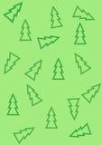 Modelo con los árboles de navidad ilustración del vector