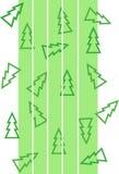 Modelo con los árboles de navidad y las tiras del blanco stock de ilustración