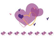 Modelo con los corazones Stock de ilustración