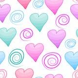 Modelo con los corazones Imágenes de archivo libres de regalías