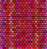 Modelo con los corazones, amor para el día de tarjetas del día de San Valentín Vector ilustración del vector