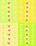 Modelo con los corazones rosados Imagen de archivo libre de regalías