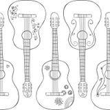 Modelo con los gitars en él Fotografía de archivo libre de regalías