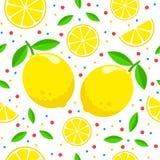 Modelo con los limones Fotografía de archivo