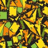 Modelo con los objetos geométricos Imagen de archivo