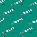 Modelo con los polos de esquí Foto de archivo libre de regalías