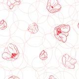 Modelo con los tulipanes stock de ilustración
