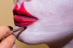 Modelo con maquillaje del arte imagen de archivo libre de regalías