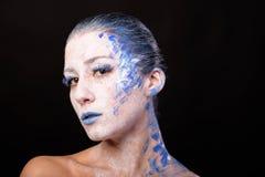 Modelo con maquillaje del arte fotografía de archivo