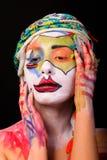 Modelo con maquillaje del arte imagenes de archivo
