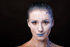 Modelo con maquillaje del arte foto de archivo
