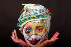 Modelo con maquillaje del arte fotos de archivo