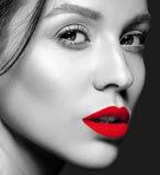 modelo con maquillaje diario fresco imagen de archivo