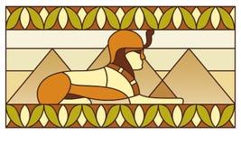 Modelo con símbolos egipcios antiguos Imagenes de archivo