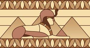 Modelo con símbolos egipcios antiguos Imágenes de archivo libres de regalías