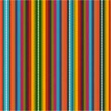 Modelo con zigzag colorido Fotografía de archivo