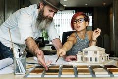 Modelo Concept de Creative Occupation House del arquitecto del estudio del diseño Imagen de archivo libre de regalías