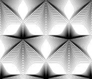 Modelo continuo con las líneas gráficas negras, a decorativa del vector Imagen de archivo libre de regalías