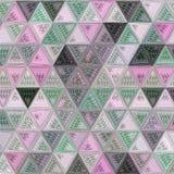Modelo continuo de los triángulos para la tarjeta o papel pintado con efecto del bordado fotografía de archivo