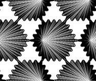 Modelo continuo del vector con las líneas gráficas negras Fotografía de archivo