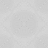 Modelo convexo comprobado inconsútil Líneas textura del zigzag stock de ilustración
